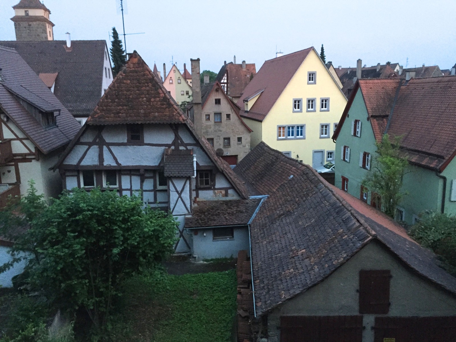 Rothenberg Rooftops from the city Wall.