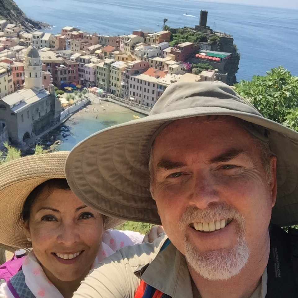 Overlooking Vernazza from the Cinque Terre Trail