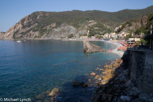 Looking back to Monterosso