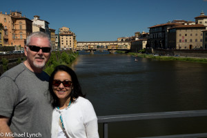 Mike and Veronica in front of Ponte Vecchio