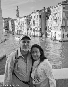 Mikey and the lovely Veronica on Rialto Bridge