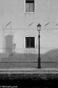 Early Morning Streetlamp Shadows