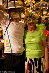 Phil and Sharon with masks