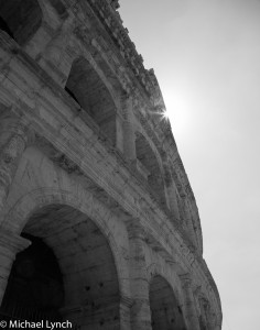 Coloseo with sunburst