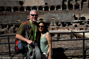 Mike and Veronica at the Coloseo