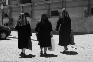 Nuns shopping