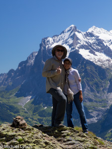 Mike and Veronica on the Swiss Alps Hike
