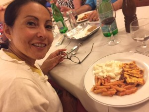 Veronica dining in Firenze