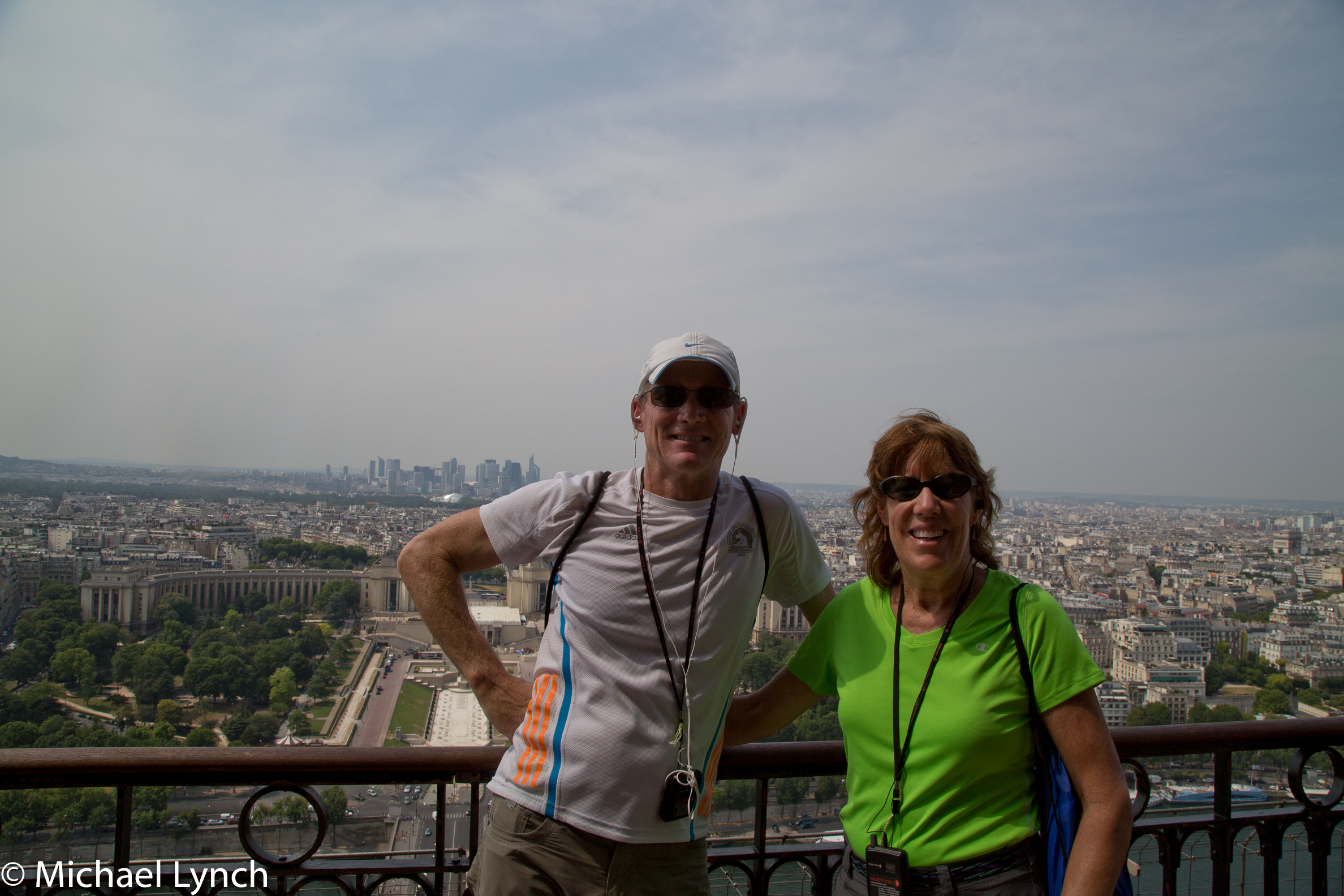 Phil and Sharon on top of the Eiffel Tower